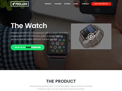 product landing page wordpress theme demo 1